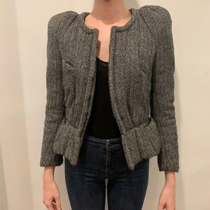 Isabel Marant Grey Jacket with Shoulder Pads